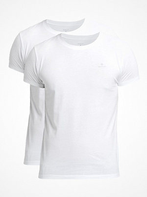 Pyjamas & myskläder - Gant 2-pack Basic Crew Neck T-Shirt White