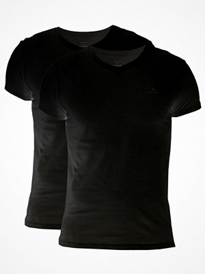 Pyjamas & myskläder - Gant 2-pack Basic V-Neck T-Shirt Black