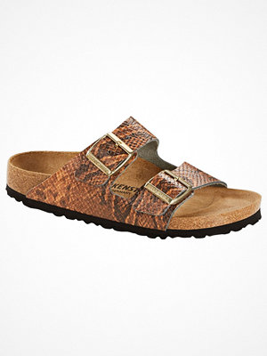 Tofflor - Birkenstock Arizona Embossed Leather Brown