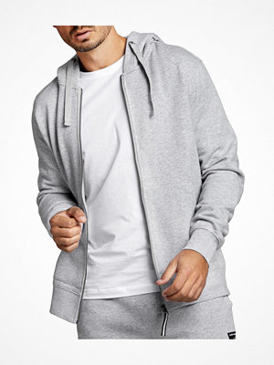 Pyjamas & myskläder - Björn Borg Centre Zip Hood Light grey