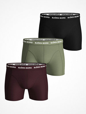 Björn Borg 3-pack Essential Shorts 2033 Red/Green