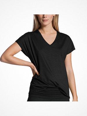 Pyjamas & myskläder - Calida Favourites Essentials Shirt Short Sleeve V Black