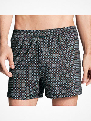 Calida Urban Boxer Shorts With Fly Blue Pattern