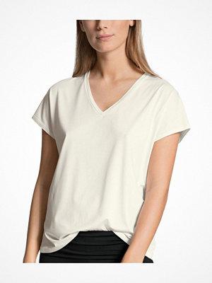 Pyjamas & myskläder - Calida Favourites Essentials Shirt Short Sleeve V Ivory