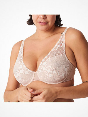 Chantelle Day To Night Plunge T-Shirt Bra Beige
