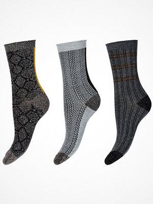 Decoy 3-pack Glitter Socks Brown pattern