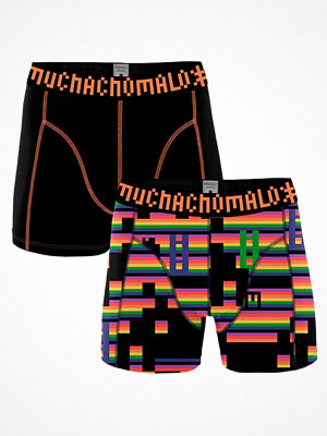 Muchachomalo 2-pack Cotton Games Boxer Black pattern-2