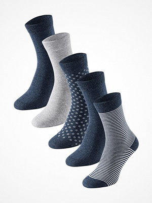 Schiesser 5-pack Women Socks Navy pattern