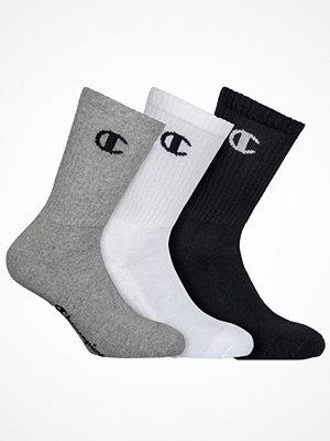 Strumpor - Champion Underwear 3-pack Champion Legacy Crew Socks Black/White