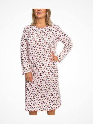 Trofé Trofe Cotton Nightdress Long Sleeve White Pattern-2