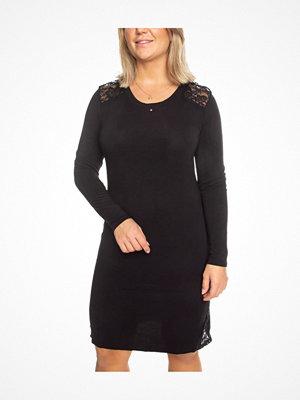 Trofé Trofe Modal Nightdress Long Sleeve Black
