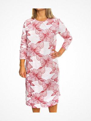 Trofé Trofe Cotton Print Nightdress Long Sleeve Red
