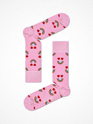 Strumpor - Happy Socks Happy Socks Wool Happy Rainbow Sock Pink Pattern