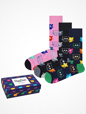 Strumpor - Happy Socks 3-pack Happy Socks Mixed Cat Socks Gift Box Multi-colour