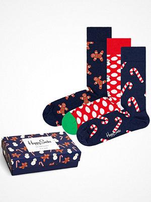 Strumpor - Happy Socks 3-pack Happy Socks Gingerbread Socks Gift Box Multi-colour