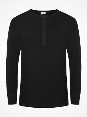 Pyjamas & myskläder - Resteröds Organic Cotton Grandpa Long Sleeve Black