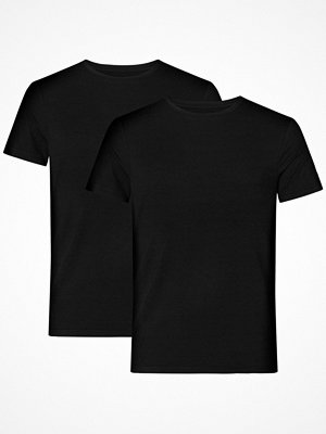 Pyjamas & myskläder - Resteröds 2-pack Bamboo Crew Neck Slim Fit Black