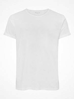 Pyjamas & myskläder - Resteröds Jimmy Tee Cotton Linen Crew Neck White
