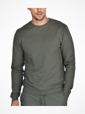 Pyjamas & myskläder - Bread and Boxers Organic Cotton Men Sweatshirt Olive