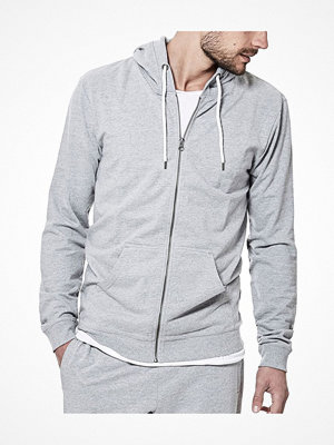 Pyjamas & myskläder - Bread and Boxers Organic Cotton Men Hoodie Grey