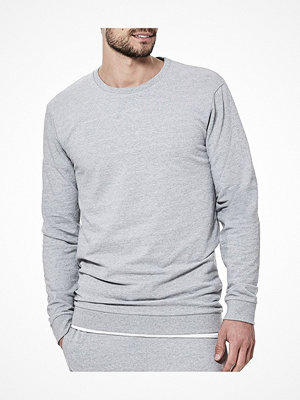Pyjamas & myskläder - Bread and Boxers Organic Cotton Men Sweatshirt Grey