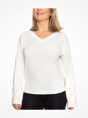 Calvin Klein Modal Coord LS Top Ivory
