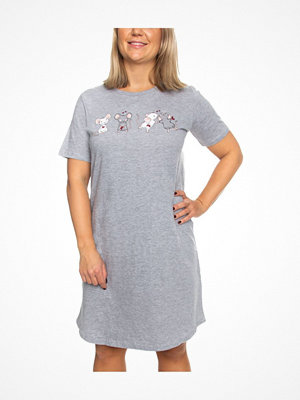 Damella Mice With Hearts Nightdress SS  Light grey