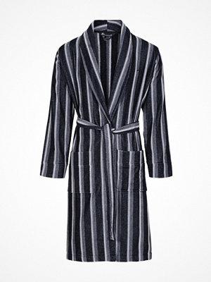 JBS Velour Bath Robe Black striped