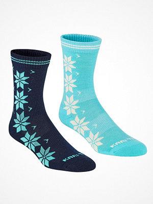 Kari Traa 2-pack Vinst Wool Sock Blue/Turquoise