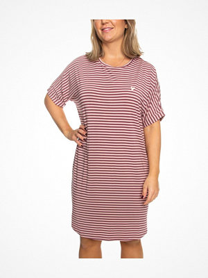 Missya Softness Modal Stripe Big Shirt Ancientpink