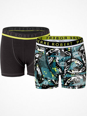 Pierre Robert 2-pack Young Boxer For Boys Black/Green