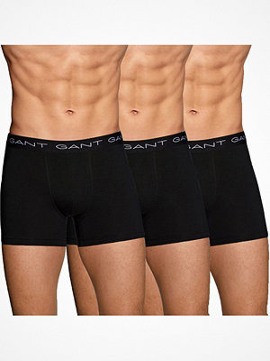 Kalsonger - Gant 3-pack Cotton Stretch Boxer Black
