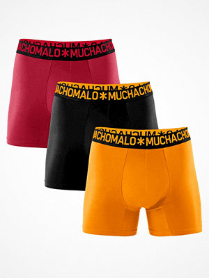Kalsonger - Muchachomalo 3-pack Cotton Stretch Boxers Red