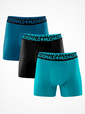 Kalsonger - Muchachomalo 3-pack Cotton Stretch Boxers Blue