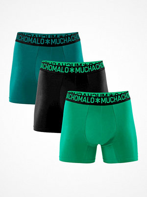 Kalsonger - Muchachomalo 3-pack Cotton Stretch Boxers Green