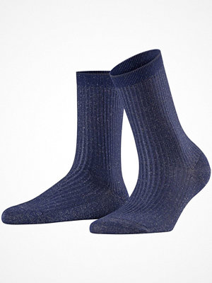 Falke Women Seasonal Shiny Rib Sock Navy-2