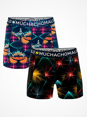 Kalsonger - Muchachomalo 2-pack Cotton Stretch EDM Boxer Black/Blue
