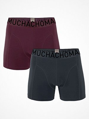 Kalsonger - Muchachomalo 2-pack Solid Cotton Boxer Red/Green