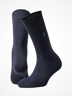 Panos Emporio 2-pack Karl Flat Knit Sock Navy-2