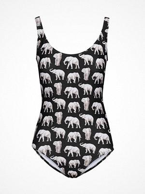 Baddräkter - Saltabad Elephant Jackie Swimsuit Black pattern-2
