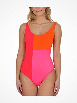Baddräkter - Saltabad Jackie Swimsuit Pink Pattern
