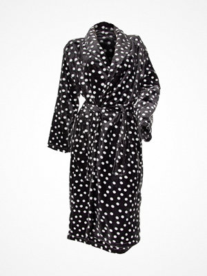 Damella Fleece Printed Dot Robe Anthracite