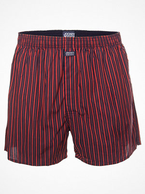 Jockey Woven Poplin Boxer Shorts Orange/Darkblu