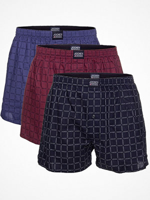 Jockey 3-pack Shirts And Shorts Woven Boxer Shorts Navy/Red