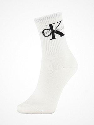 Calvin Klein Bowery Logo Short Crew Socks White
