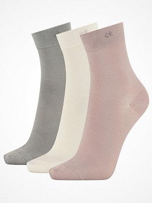 Calvin Klein 3-pack Juno Short Crew Sock Grey/Pink