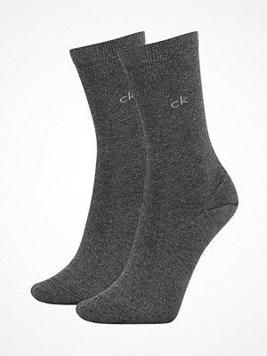 Calvin Klein 2-pack Annika Flat Knit Sock Darkgrey