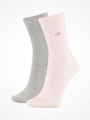 Calvin Klein 2-pack Annika Flat Knit Sock Pink/Grey