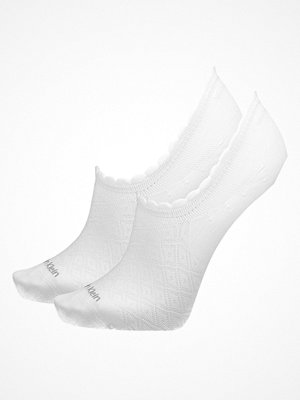 Calvin Klein 2-pack Libby Diamond No Show Sock White
