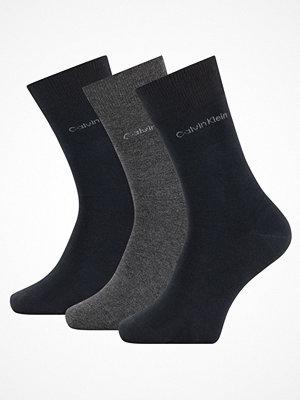 Calvin Klein 3-pack Eric Cotton Flat Knit Socks Darkblue